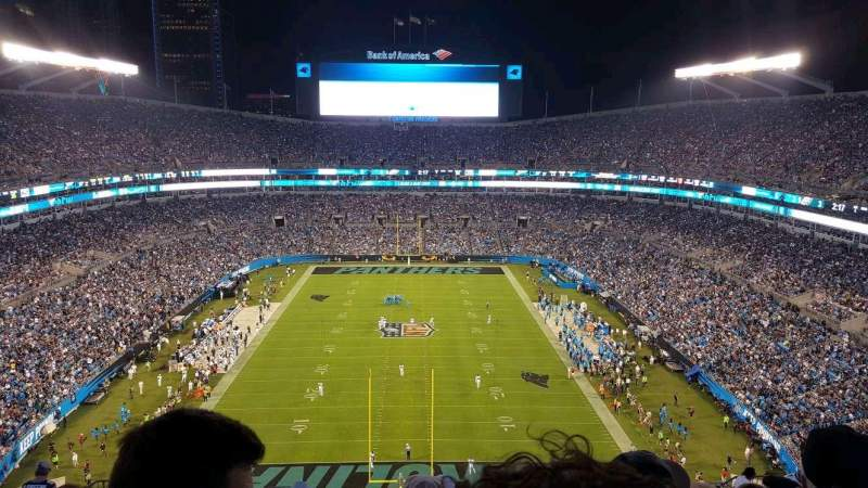 Bank of America Stadium, sección: 501, fila: 18, asiento: 14
