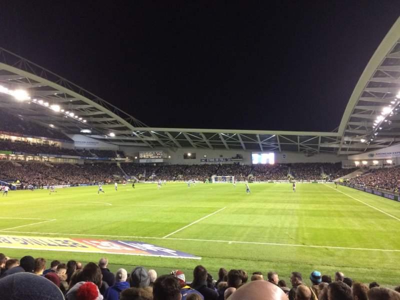American Express Community Stadium, sección: S1C, fila: J, asiento: 795