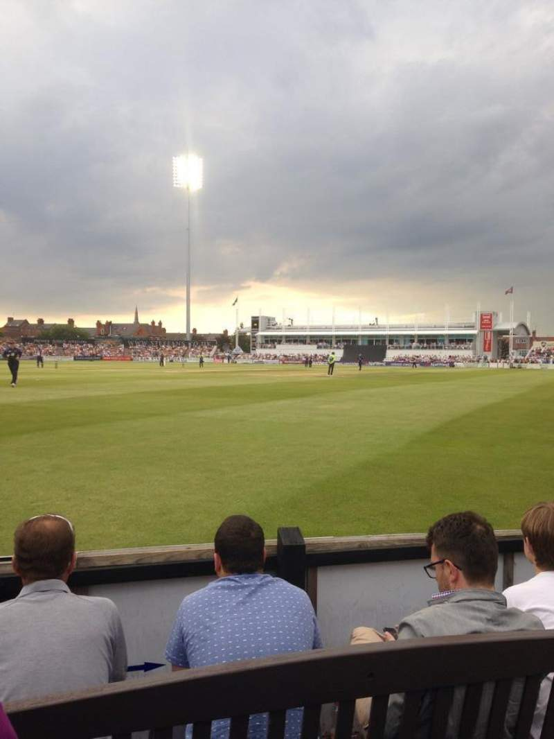 Vistas desde el asiento para The County Ground (Northhampton)