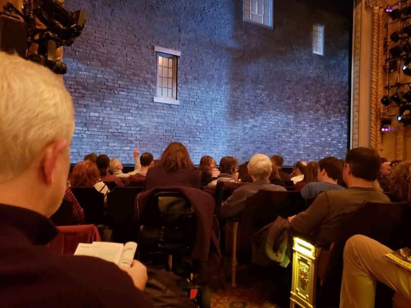 Vistas desde el asiento para John Golden Theatre Sección Orchestra L Fila H Asiento 1