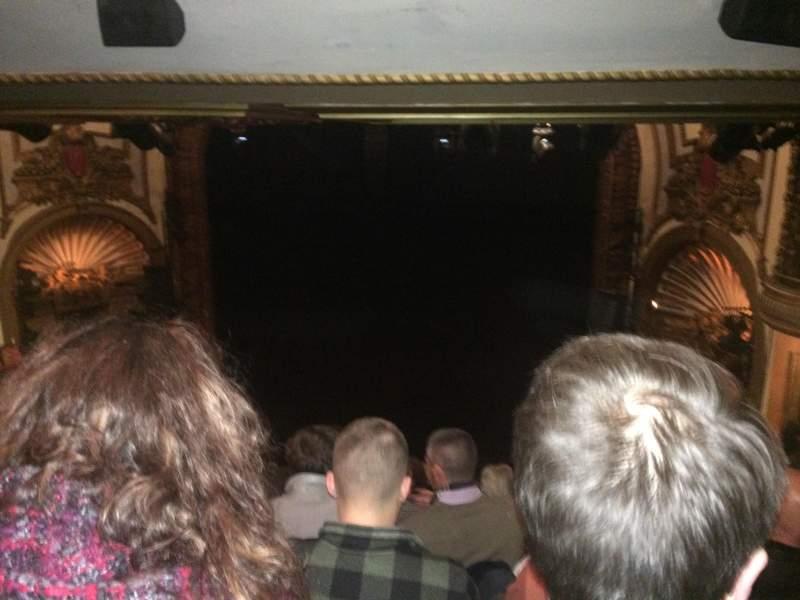 Vistas desde el asiento para Palace Theatre (Broadway) Sección Rear Center Mez Fila M Asiento 124