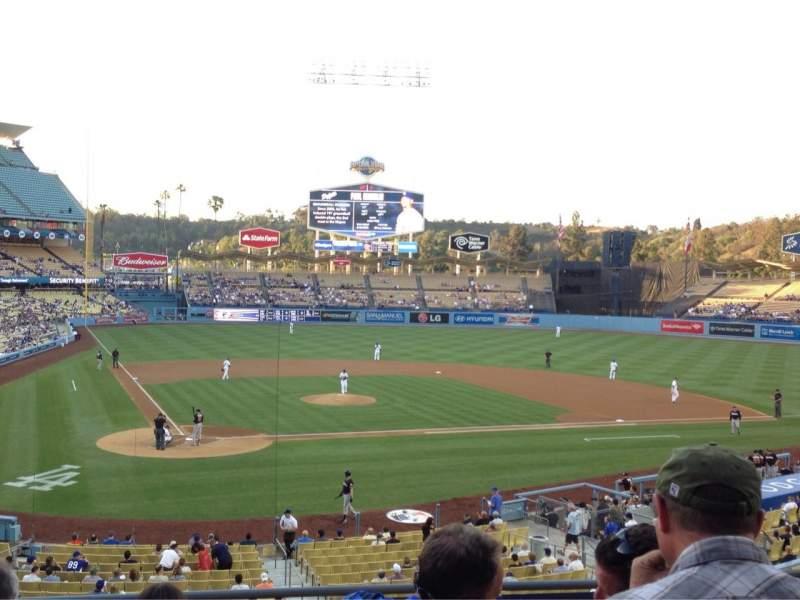 Vistas desde el asiento para Dodger Stadium Sección 116LG Fila F Asiento 3