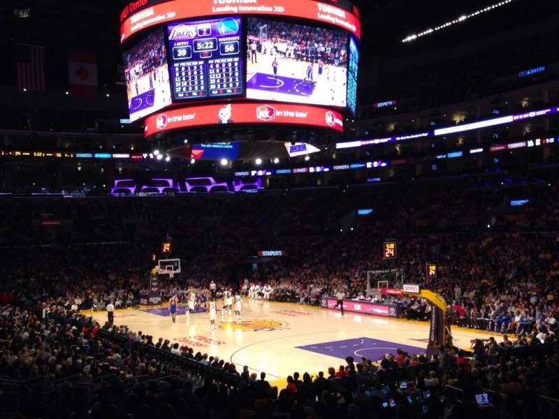 Vistas desde el asiento para Staples Center Sección 108 Fila 20 Asiento 10