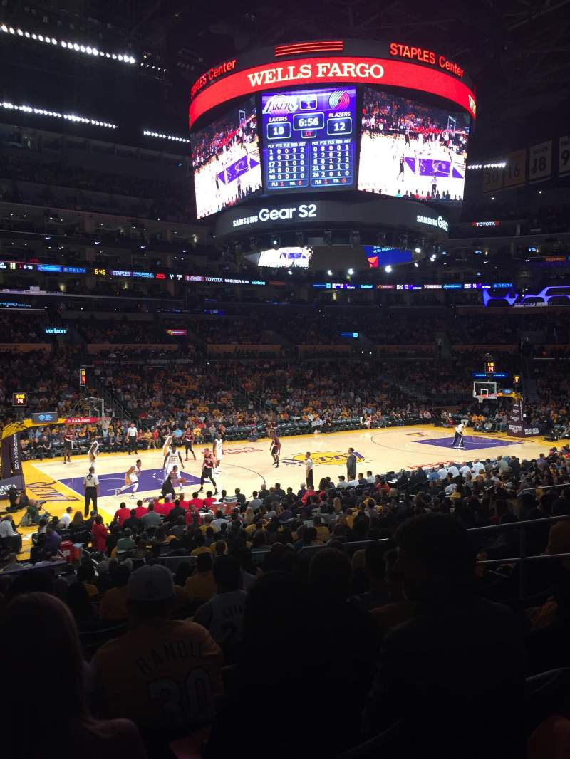 Staples Center, sección: 103, fila: 20, asiento: 9