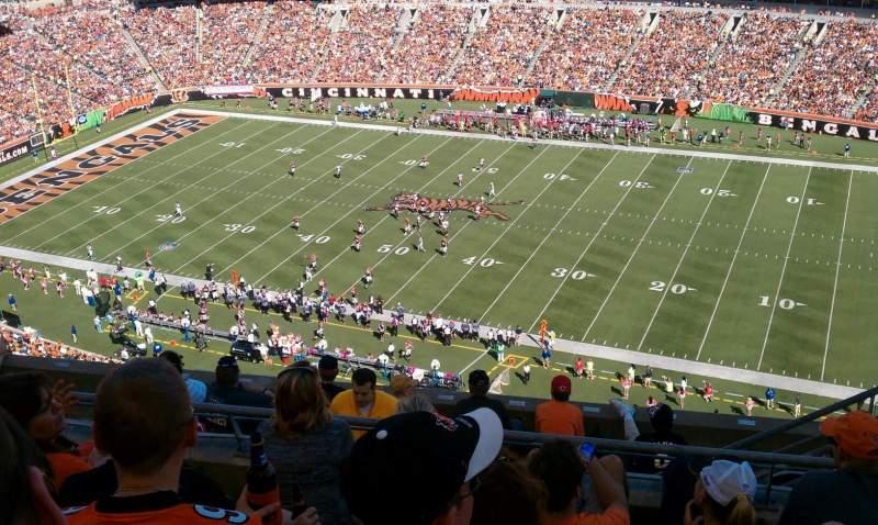 Vistas desde el asiento para Paul Brown Stadium Sección 307 Fila 2 Asiento 4