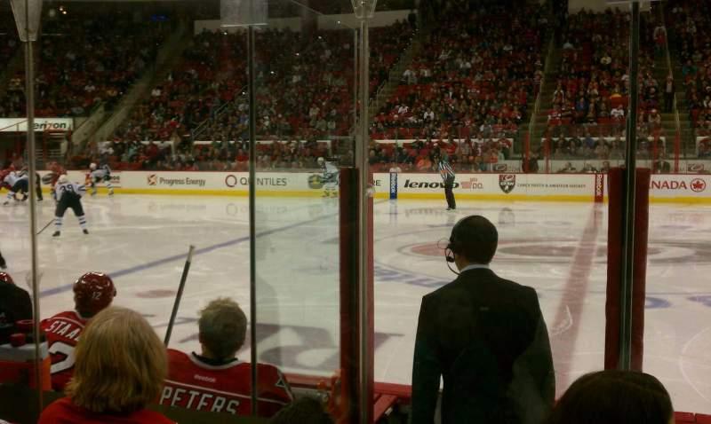 PNC Arena, sección: 104, fila: 3, asiento: 4