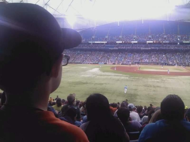 Tropicana Field, sección: 143, fila: WW, asiento: 21