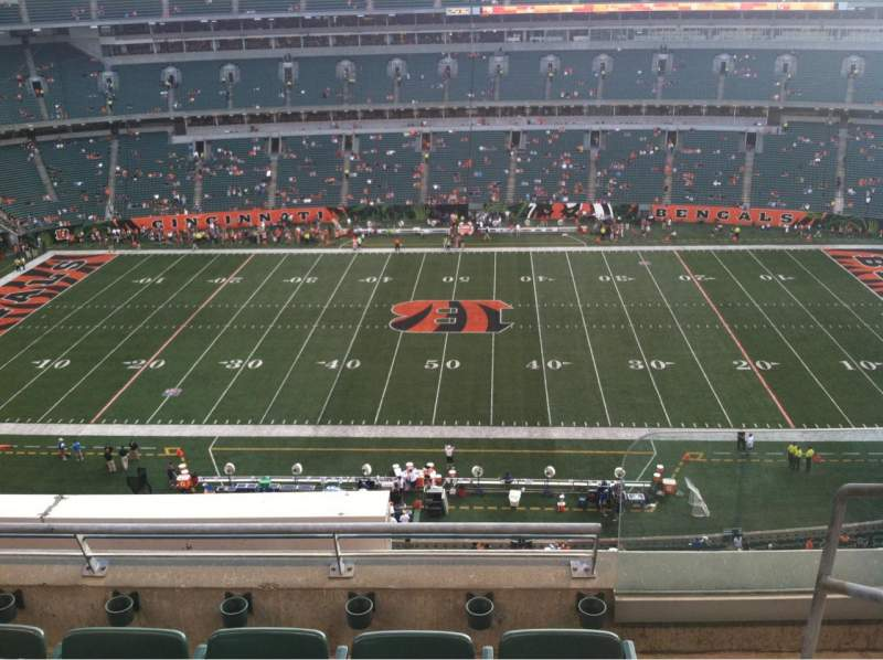 Paul Brown Stadium, sección: 340, fila: 4, asiento: 1