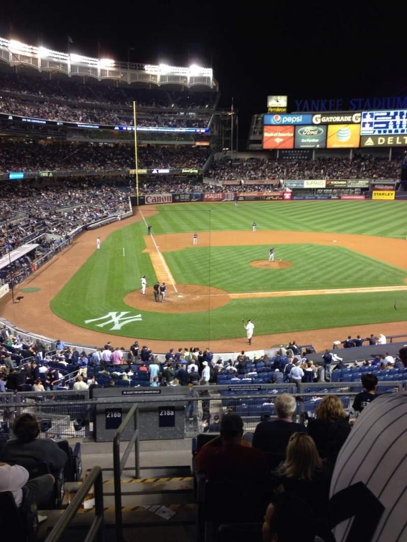 Vistas desde el asiento para Yankee Stadium Sección 218a Fila 8 Asiento 13