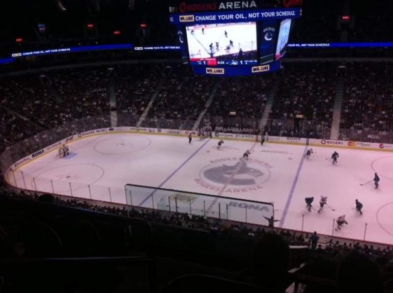 Vistas desde el asiento para Rogers Arena Sección 307 Fila 12 Asiento 1