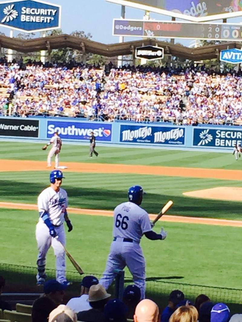 Dodger Stadium, sección: 9FD, fila: E, asiento: 1