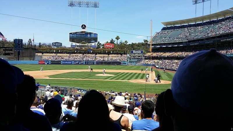 Dodger Stadium, sección: 9fd, fila: U, asiento: 8