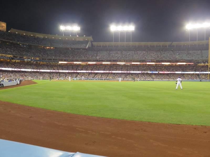 Vistas desde el asiento para Dodger Stadium Sección 52FD Fila AA Asiento 1