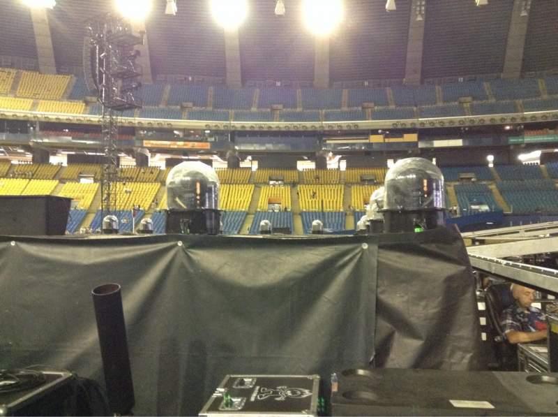 Vistas desde el asiento para Olympic Stadium, Montreal Sección B5 Fila V Asiento 18