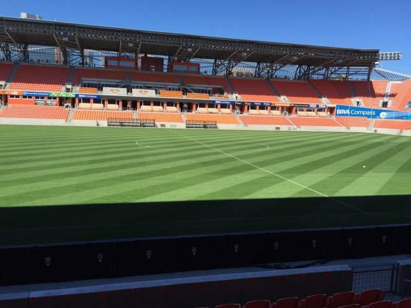 Vistas desde el asiento para BBVA Stadium Sección 127 Fila F Asiento 15