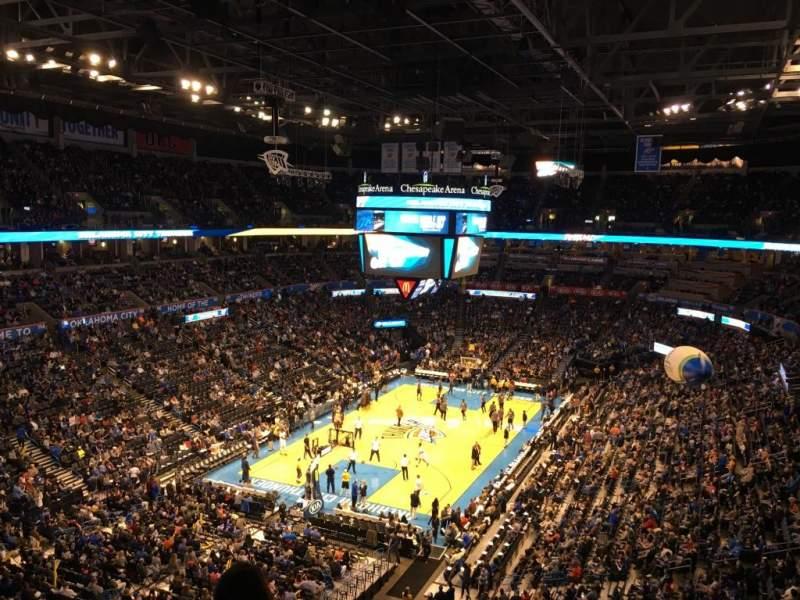 Vistas desde el asiento para Chesapeake Energy Arena Sección 314