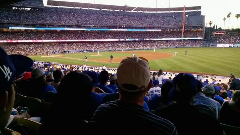 Vistas desde el asiento para Dodger Stadium Sección 38fd Fila v Asiento 7