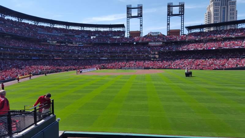 Vistas desde el asiento para Busch Stadium Sección 109 Fila 11 Asiento 5