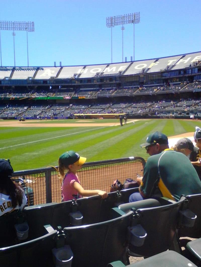 Vistas desde el asiento para Oakland Alameda Coliseum Sección 129 Fila 4 Asiento 6