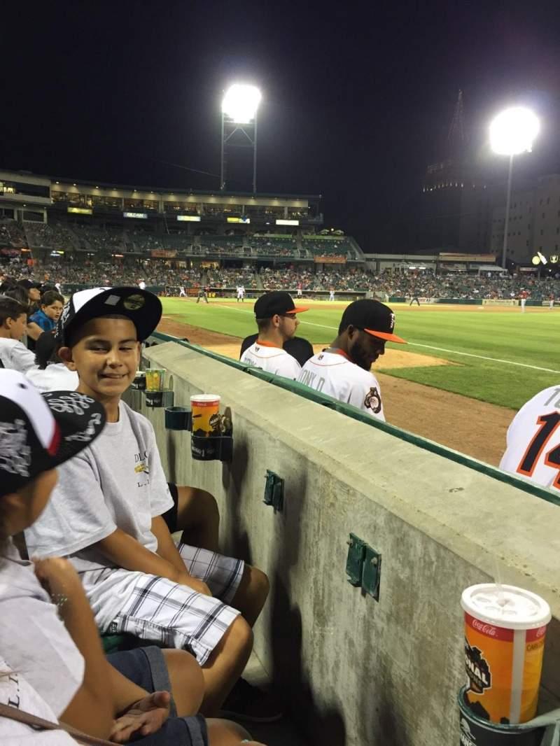 Chukchansi Park, sección: 125, fila: 2, asiento: 01