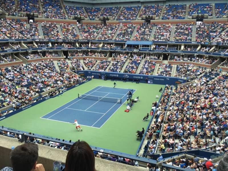 Vistas desde el asiento para Arthur Ashe Stadium Sección 121 Fila C Asiento 9