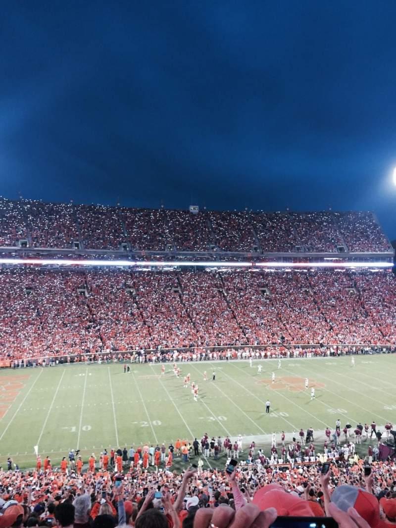 Vistas desde el asiento para Memorial Stadium, Clemson Sección UM Fila O Asiento 13