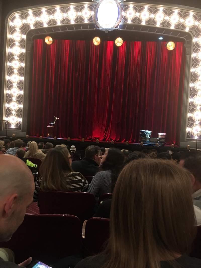 Vistas desde el asiento para Palace Theatre (Broadway) Sección Orchestra Fila M Asiento 104