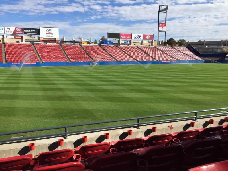 Vistas desde el asiento para Toyota Stadium Sección 103 Fila 4 Asiento 15