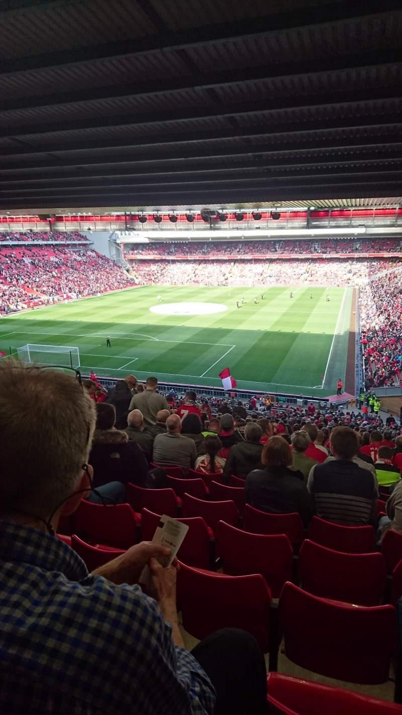 Vistas desde el asiento para Anfield Sección 207 Fila 61 Asiento 32