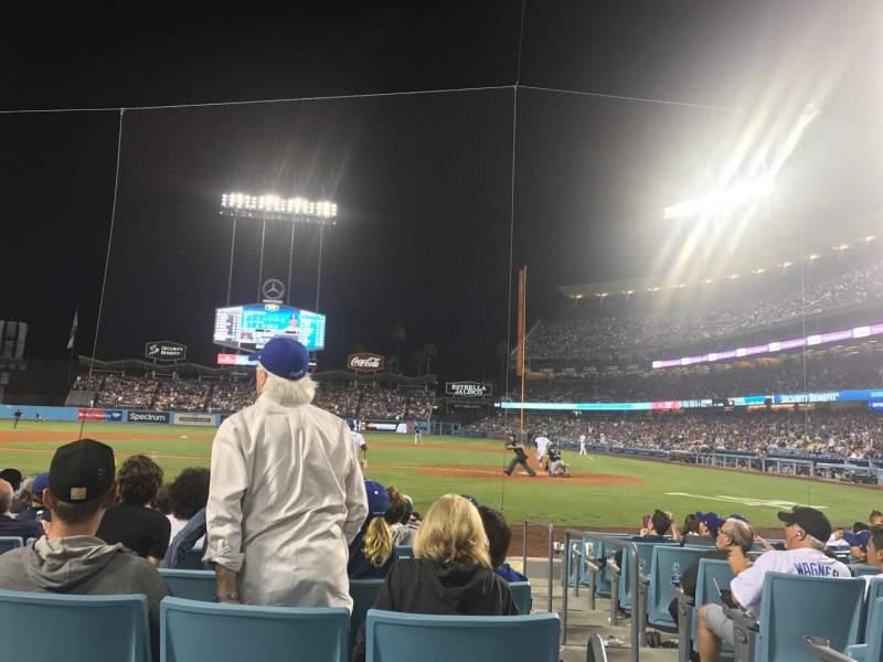 Dodger Stadium, sección: 9fd, fila: A, asiento: 3