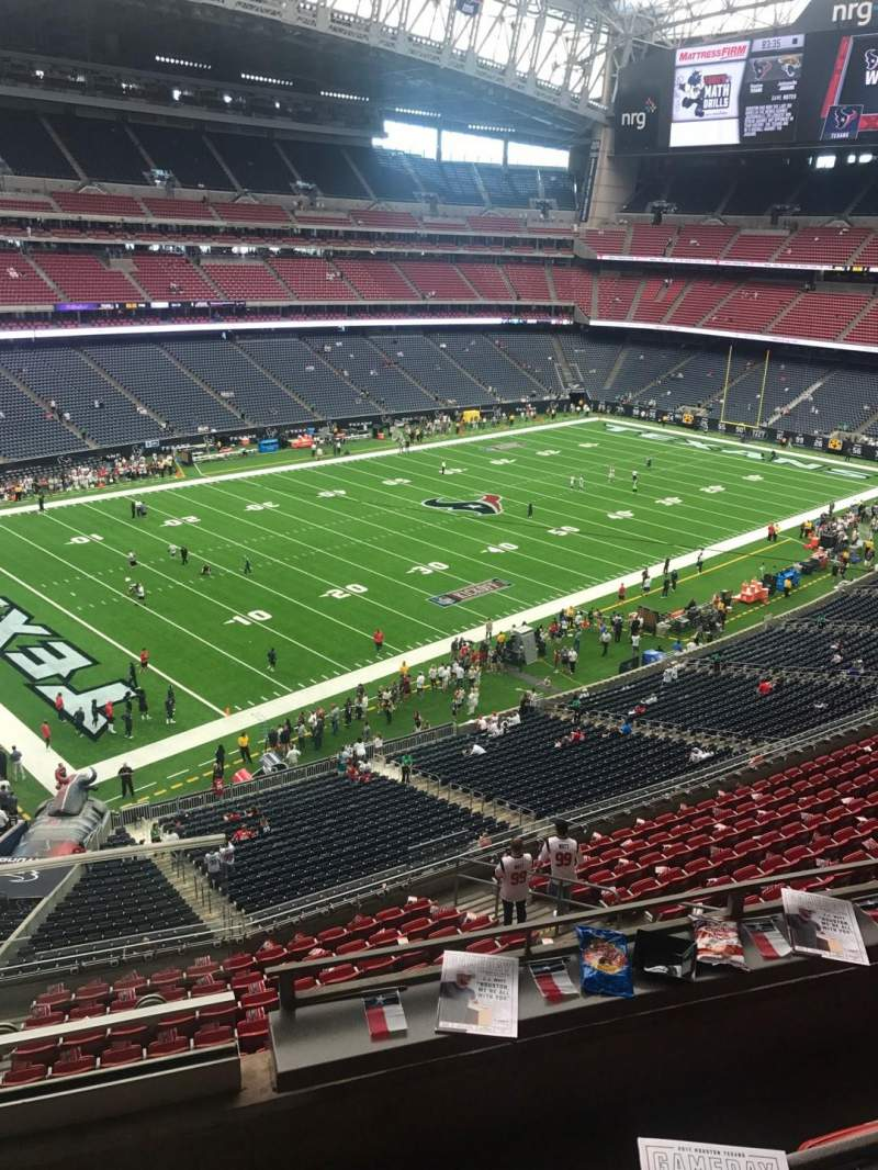 NRG Stadium, sección: 438, fila: 1, asiento: 1