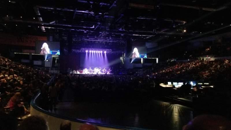 Vistas desde el asiento para Blue Cross Arena Sección 113 Fila E Asiento 7