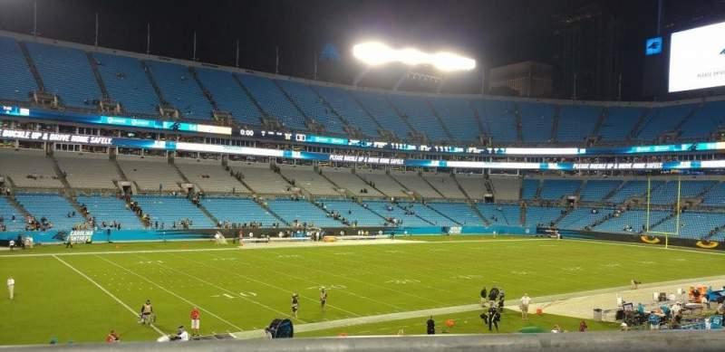 Bank of America Stadium, sección: 349, fila: 1, asiento: 3