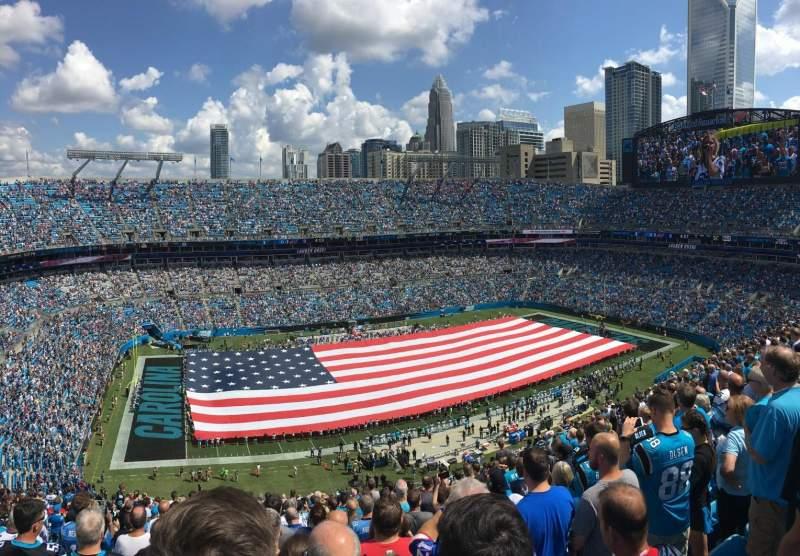 Bank of America Stadium, sección: 545, fila: 21, asiento: 20