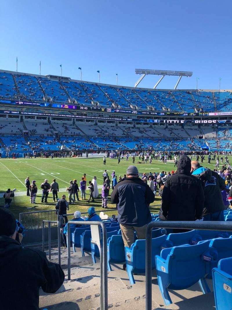 Bank of America Stadium, sección: 116, fila: 9, asiento: 1
