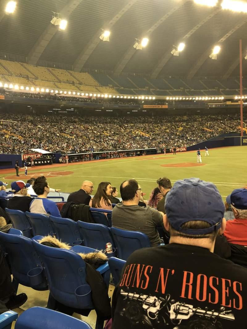 Vistas desde el asiento para Olympic Stadium, Montreal Sección 111 Fila Kk Asiento 10
