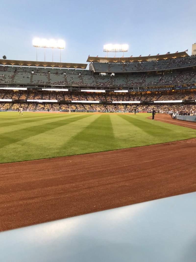Vistas desde el asiento para Dodger Stadium Sección 53FD Fila AA Asiento 1