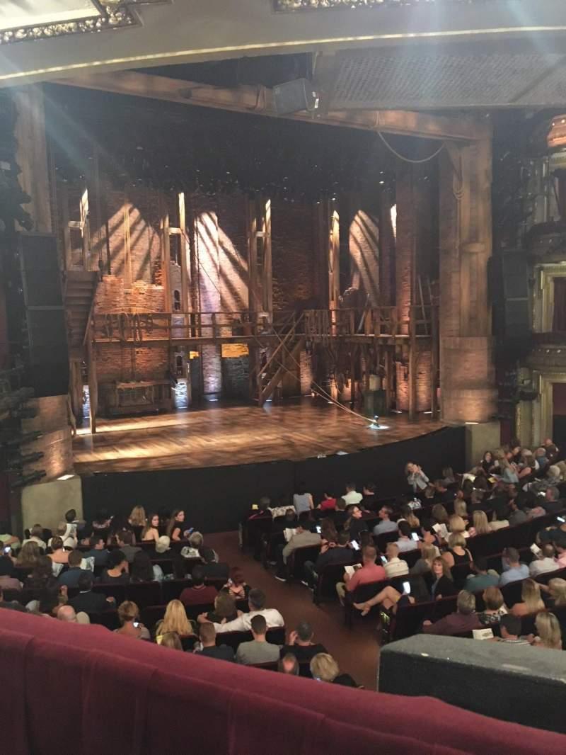 CIBC Theatre, sección: Dress Circle L, fila: A, asiento: 3