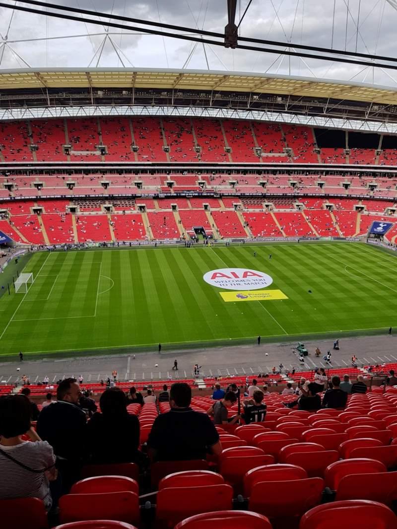 Vistas desde el asiento para Wembley Stadium Sección 529 Fila 21 Asiento 62