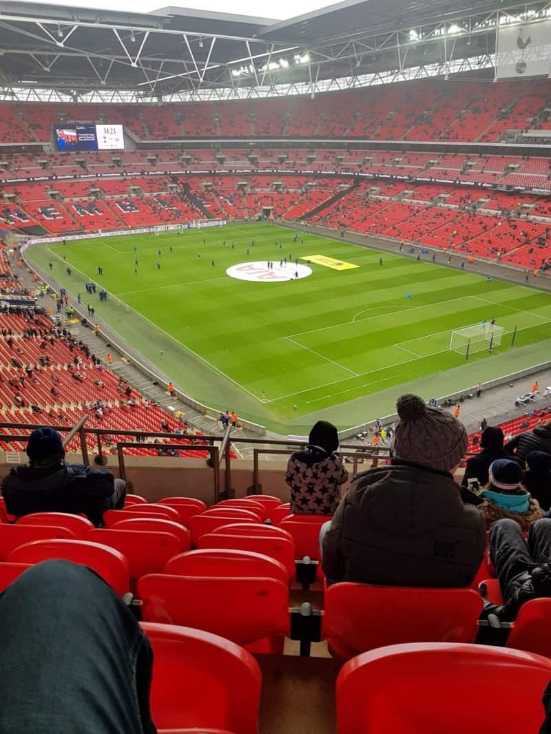 Vistas desde el asiento para Wembley Stadium Sección 544 Fila 10 Asiento 145