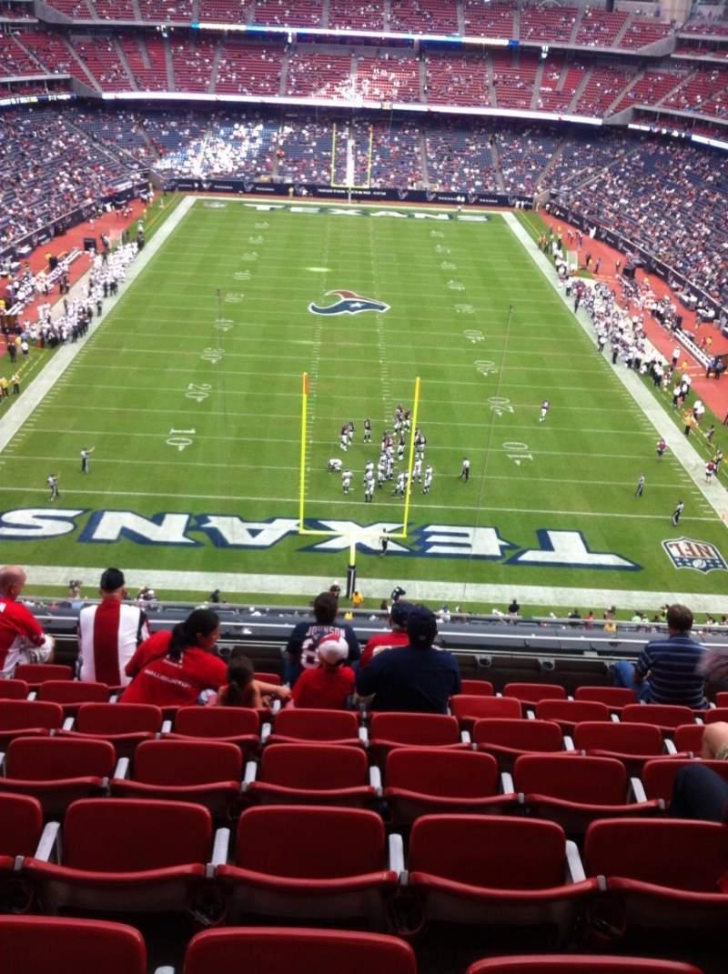 Vistas desde el asiento para NRG Stadium Sección 521 Fila H