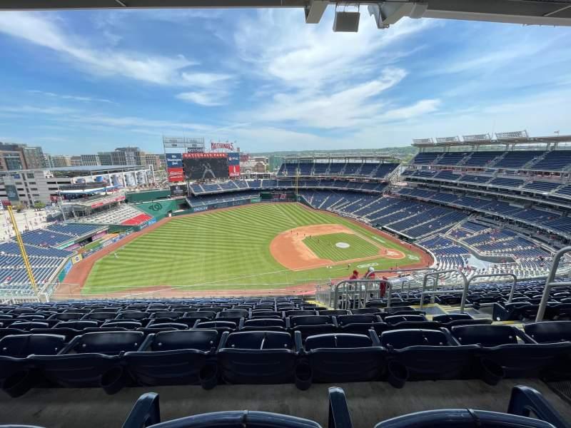 Vistas desde el asiento para Nationals Park Sección 405 Fila N Asiento 5