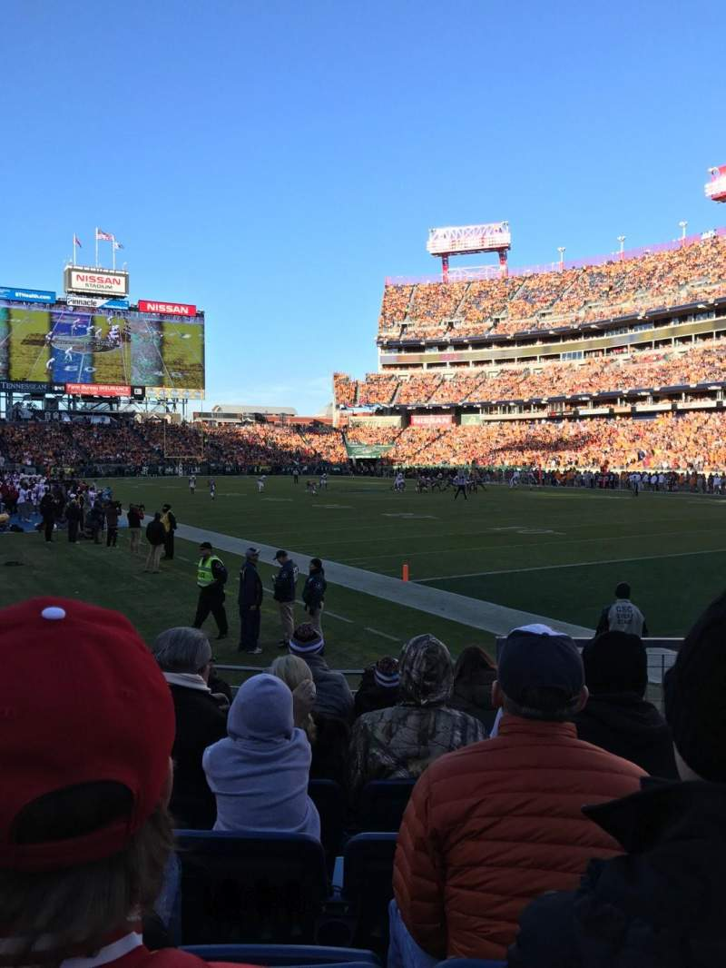 Nissan Stadium, sección: 128, fila: 11
