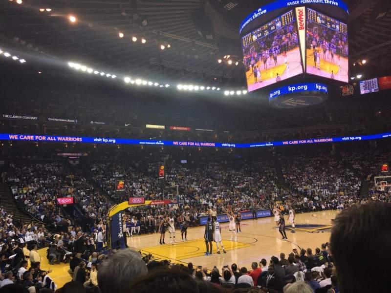 Vistas desde el asiento para Oracle Arena Sección 119 Fila 7 Asiento 5