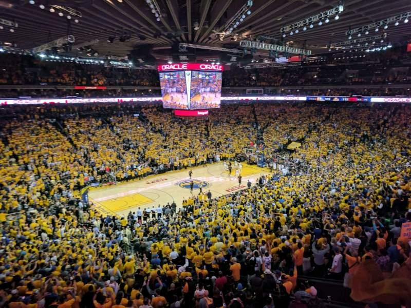 Oracle Arena, sección: M15, fila: 2, asiento: 3