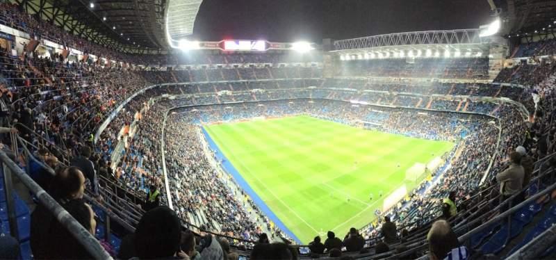Vistas desde el asiento para Santiago Bernabéu Stadium Sección 516 Fila 8 Asiento 21