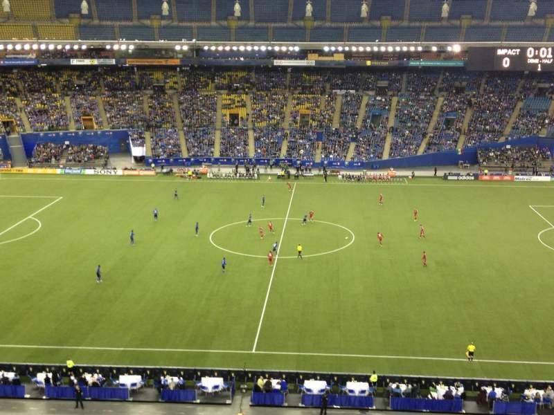 Vistas desde el asiento para Olympic Stadium, Montreal Sección 441 Fila DD Asiento 5