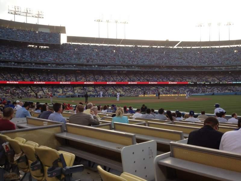 Vistas desde el asiento para Dodger Stadium Sección 40FD Fila B Asiento 4