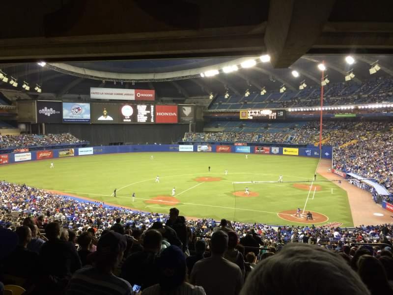Vistas desde el asiento para Olympic Stadium, Montreal Sección 210 Fila M Asiento 8
