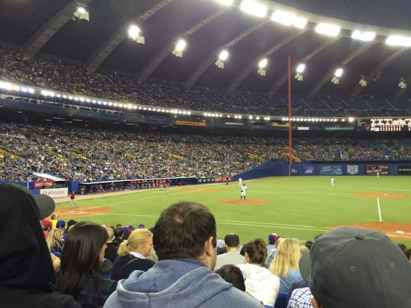 Vistas desde el asiento para Olympic Stadium, Montreal Sección 111 Fila PP Asiento 7